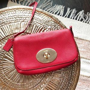 Coach Liv Red Leather Crossbody Bag